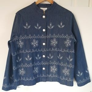 Draper's & Damon's Large Denim Button Up Jacket